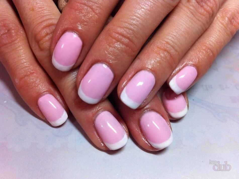 белый френч с розовым фото