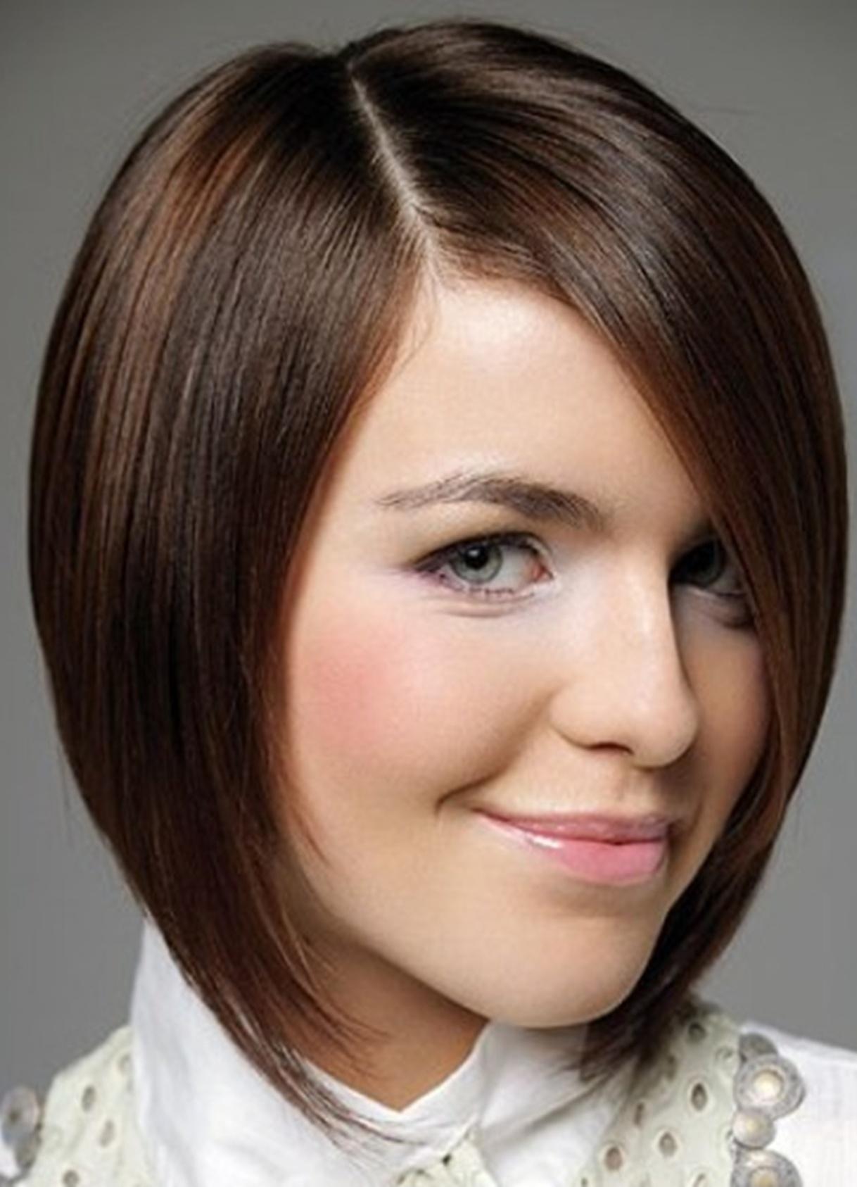 Картинки женские стрижки для круглого лица фото