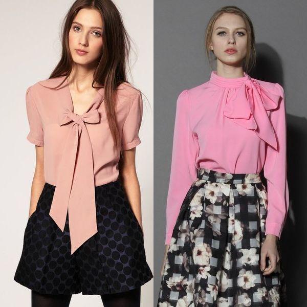 Blusas de telas ligeras. Blusas de oficina - clásicos de moda.