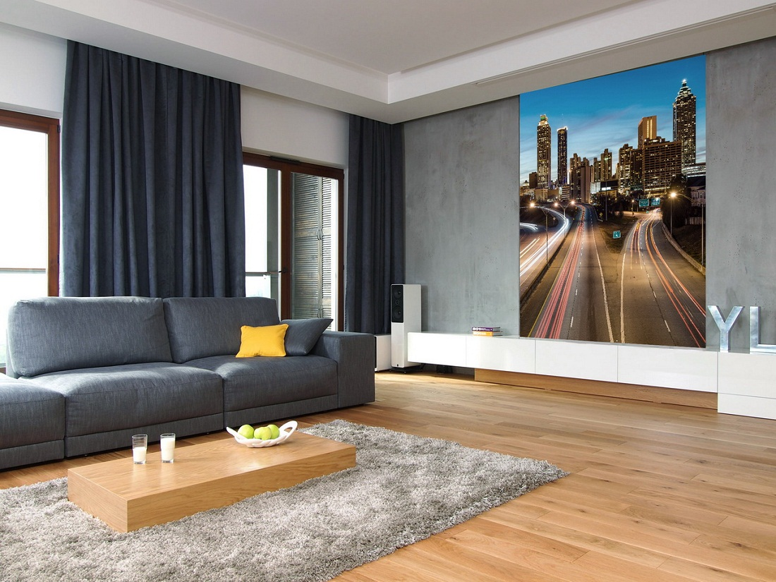 Interior De Uma Sala Cinzenta Fundo Cinza Para Um Interior Brilhante -> Sala Toda Cinza
