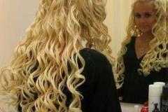 Rambut keriting membentuk helaian yang agak bengkok. Pada pendaftaran  penata rambut patuh berbaring dan tidak menonjol. Gulungan spiral kering. f08bc2eef5