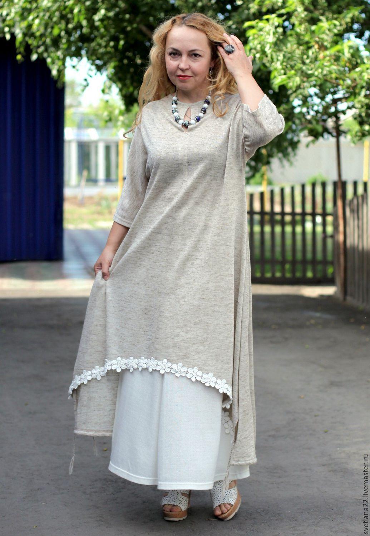 bd9406c1184 С чем носить белое льняное платье. Платья из льна больших размеров.