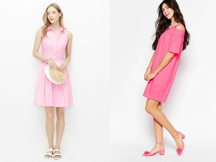 Licht Roze Jurkje : Sandalen onder een zachtroze jurk roze en roze roze en beige