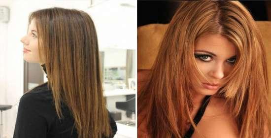 Фото причесок на средние волосы с челкой и мелированием 67