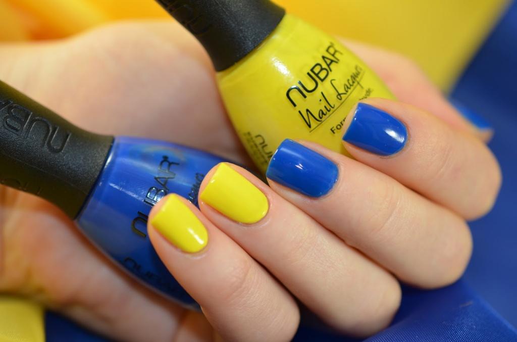 Сине-желтый маникюр - фото - Идеальный маникюр 7
